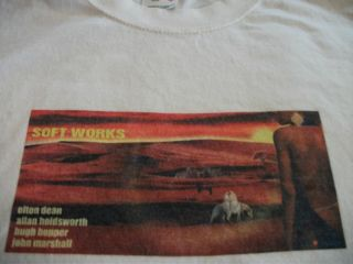 Allan Holdsworth Soft Works Album Cover Shirt Size L Soft Machine Very