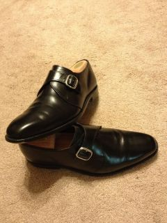 Allen Edmonds Boston Black Monk Strap Calfskin 9.5 D