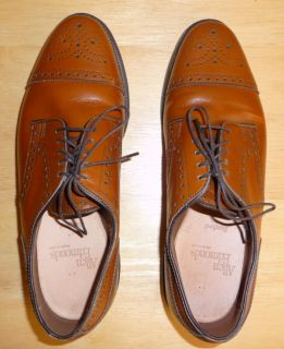 Allen Edmonds USA Mens Boys Sanford Leather Cap Toe Oxfords Dress