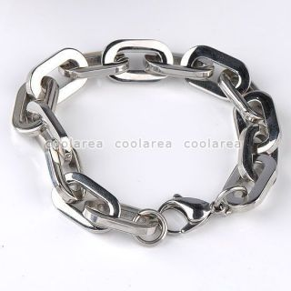 Mens Stainless Steel Anchor Link Chain Bracelet 8L Bangle Fashion