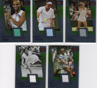 Roger Federer 2007 Ace Grand Slam 2 Authentic Materials Bronze Relic