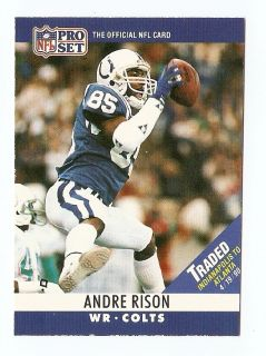 1990 Andre Rison Pro Set Traded Football Trading Card 134C