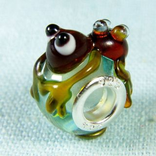 4pc Ant Murano Glass Bead Animal Fits Charm Bracelet