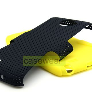 Black Yellow Apex Perforated Hard Case Gel Cover for Samsung Galaxy