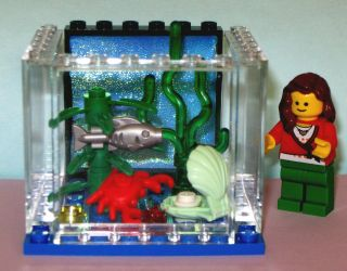 LEGO Custom Lg Fish Aquarium Animals Plant Pet Shop Crab Clam Sea Food