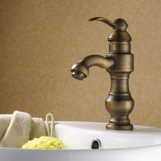 Luxury Single Handle Antique Brass Bathroom Faucet DL 2602