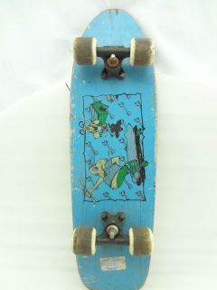 Vintage Skateboard Variflex Cartoon Dog Kid Graphic Car Trucks Wheels