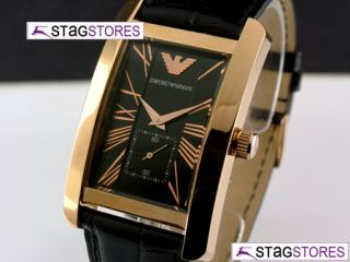 New Emporio Armani Mens Rose Gold Classic Designer Watch AR0168 RRP £