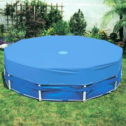 Round Intex Metal Frame Above Ground Swimming Pool Cover 58411E