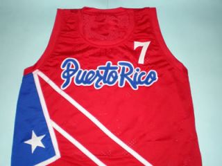 CARLOS ARROYO TEAM PUERTO RICO JERSEY SEWN RED NEW ANY SIZE ABQ