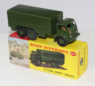 Military Dinky Toys 622 Army 10 Ton Foden Truck Gloss Green Picture