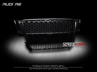 HONEYCOMB MESH FRONT HOOD BUMPER GRILL GRILLE 2008 2010 AUDI A5 8T