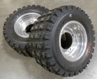 Polaris Predator Outlaw ATV Rear Wheels Tires MAXXIS RAZR 2003