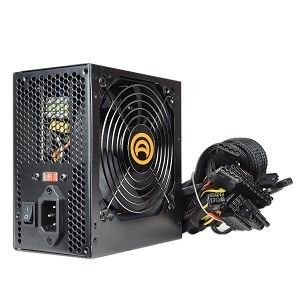 Power AK 680W 20 4 Pin ATX Power Supply PSU w SATA PCIe Black New