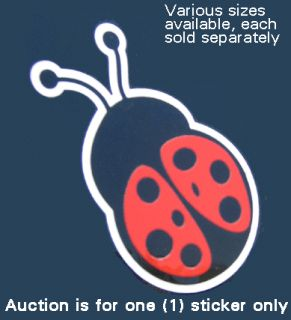 Red Black Ladybug Vinyl Sticker Car Vehicle Auto Decal