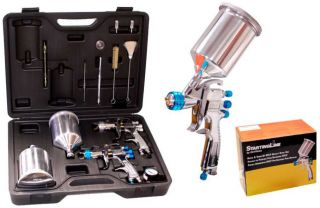 DeVilbiss HVLP Auto Paint Touch Up Spray Gun System w 3 Startingline