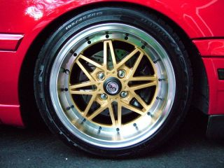 15 OG Axis Old Skool Style Gold Wheels Rims Fit Acura Integra Da DC