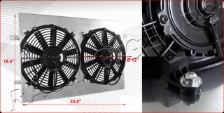 Ford Mustang AT Aluminum Cooling Fan Shroud+Radiator Fan   CFM 1250