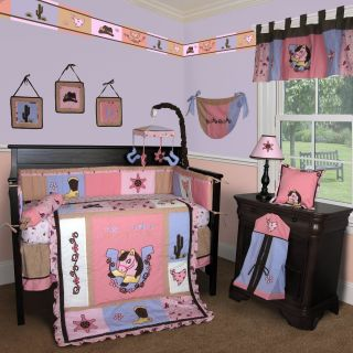 Baby Boutique Western Cowgirl 13 Pcs Crib Bedding Set