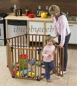 North States Wooden Baby Pet Play Yard Gate Superyard NEW 4940 a