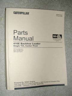 Caterpillar 416E 416 E Backhoe Loader Parts Manual Cat