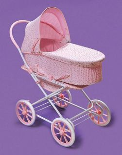 Kids Pink Baby Carriage Toy Doll Pram Stroller 3 in 1