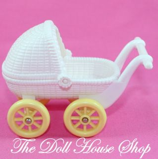 White Baby Carriage Stroller Pram Fisher Price Loving Family Dream