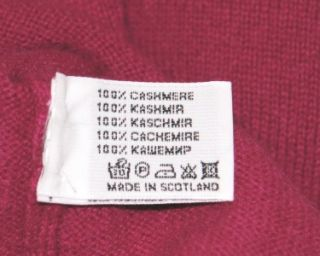 Ballantyne Long Sleeve Hooded Cashmere Sweater Fucsia Made in Scotland