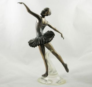 Female Ballet Dancer Figurine Bronzed Art Statue Arabesque from