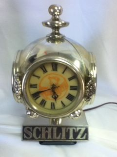 SCHLITZ BEER SIGN LIGHT CLOCK LIGHTED VINTAGE BAR CASH REGISTER TOPPER