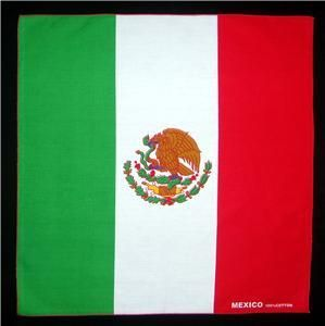 Lot of 6 Flag of Mexico Mexican bandera bandanas wall hangings biker