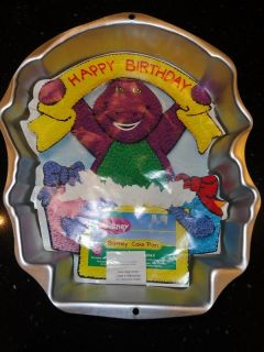 Wilton Barney Cake Pan 2105 3450 w insert Instructions Happy Birthday