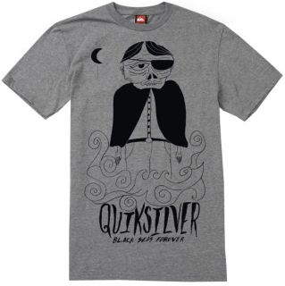 J7   Quiksilver Black Bart Tee / T Shirt / Shirt * NWT Mens Large Grey