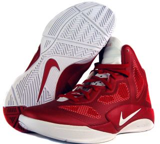 Nike Zoom Hyperfuse 2011 TB Sz 14 Mens Basketball Shoes Red/White