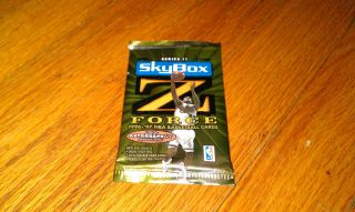 1996 1997 Skybox Z FORCE Basketball Trading Cards Pack Hobby Unopened