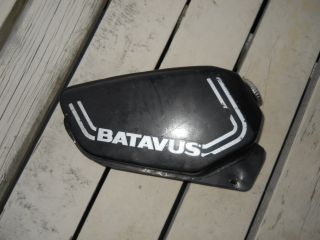1980 Batavus Moped Fuel Gas Tank with Cap Petrol Black