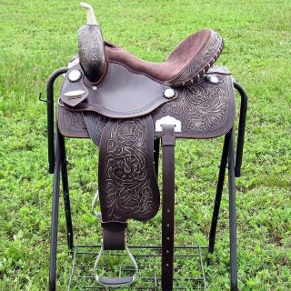 COS193 Western Barrel Racing Trail Pleasure Horse Saddle 14