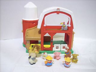 fisher price little people farm barn animal sound musical silo toddler
