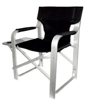 super heavy duty directors chair with table black 1601 time