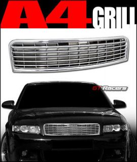 CHROME HORIZONTAL SPORT FRONT HOOD BUMPER GRILL GRILLE ABS 2002 2005