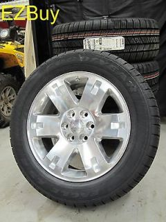 20 GMC Yukon Sierra Brand New Factory Style Polished Wheels GoodYear
