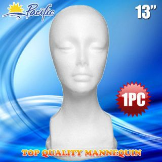 1PC 13 STYROFOAM FOAM MANNEQUIN MANIKIN head display wig hat glasses