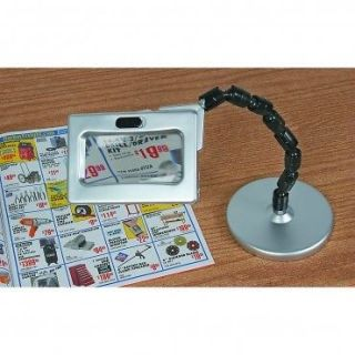 Desktop Magnifying Glass Magnifier With LED Lights 5 X Magnification