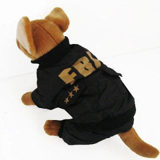 fbi costume cute jumpsuit pet dog clothes chihuahua l time