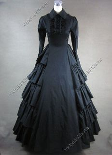 Victorian Gothic Lolita Cosplay Dress Ball Gown Reenactment 007 XXL