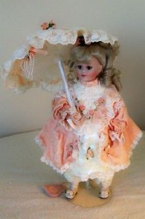 Maryse Nicole Melinda Franklin Mint Heirloom Victorian Parasol Doll 15