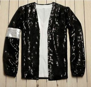 CLASSIC MICHAEL JACKSON BILLIE JEAN SEQUIN JACKET black color