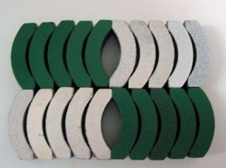 10 Pair NOS Aurora Thundetjet HO Scale Slot Car Magnets   Green