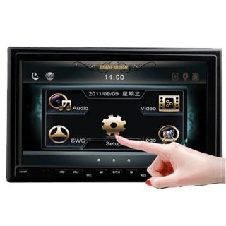 In Dash 2 DIN 7 Car DVD Player Touch Screen Radio iPod TV Bluetooth