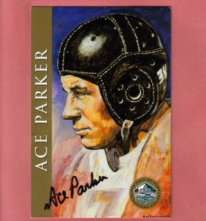 Clarence Ace PARKER SIGNED Autographed Football Hall of Fame Large